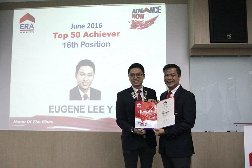 Eugene Lee, 16th Out of 6000 ERA ERA Agents Top Achievers Award June 2016