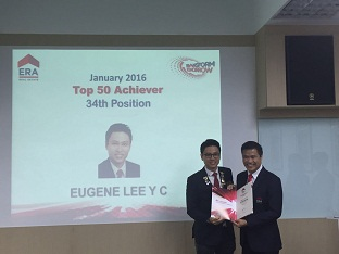 Eugene Lee, 34th Out of 6000 agents Top Achievers Award Jan 2016