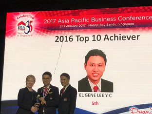 Eugene Lee, 5th out of 6000 agents Top Achievers Award 2016