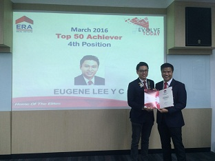 Eugene Lee, 4th Out of 6000 ERA ERA Agents Top Achievers Award Mar 2016