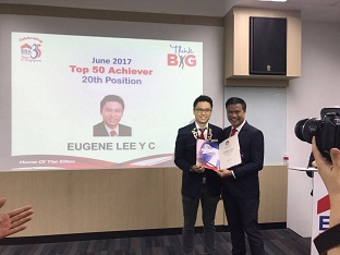 Eugene Lee, 20th Out of 6000 ERA Agents Top Achievers Award June 2017