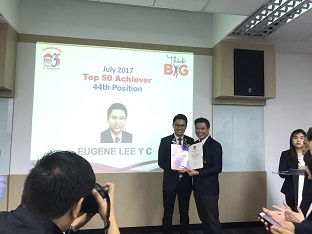 Eugene Lee, 44th Out of 6000 ERA Agents Top Achievers Award July 2017